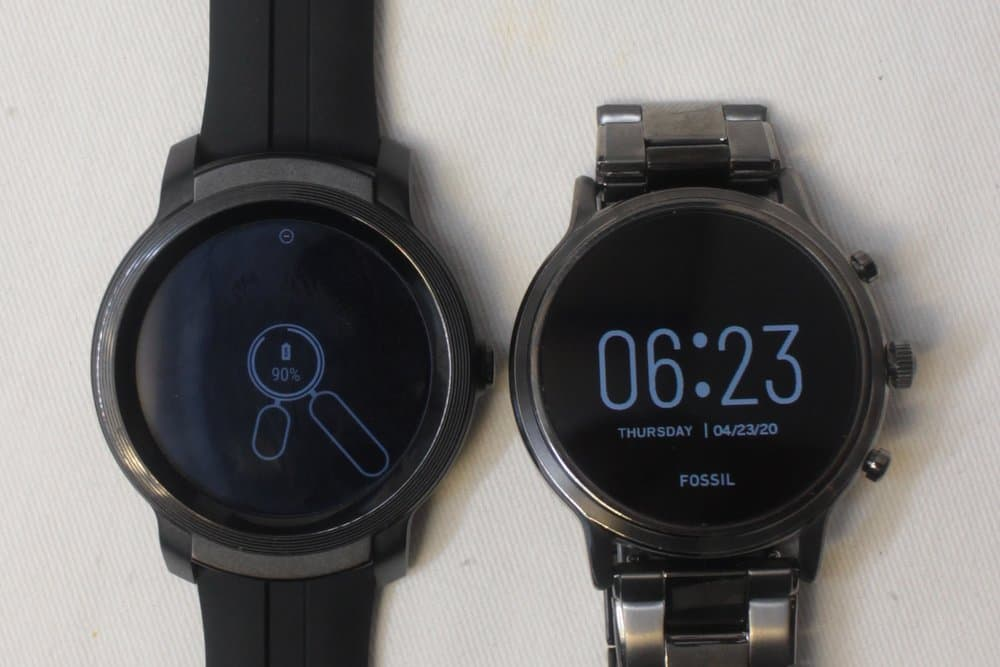 ticwatch e2 vs fossil gen 5 carlyle screensaver