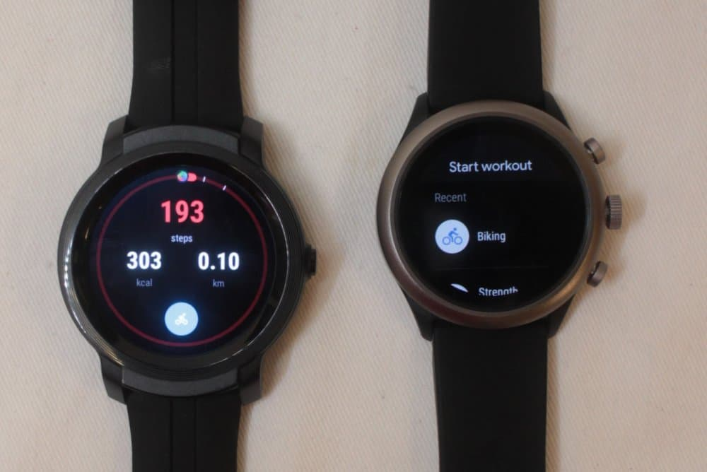 ticwatch e2 fossil sport mobvoi vs google fit
