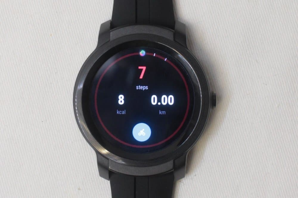 ticwatch e2 step counter