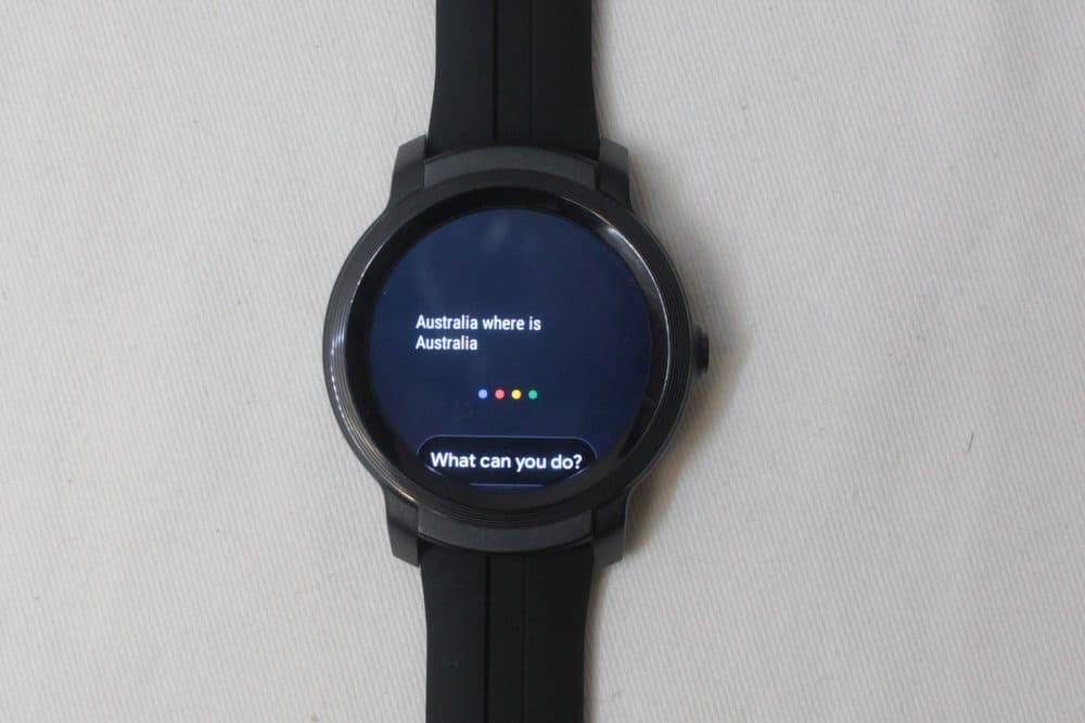 ticwatch e2 asking google assistant