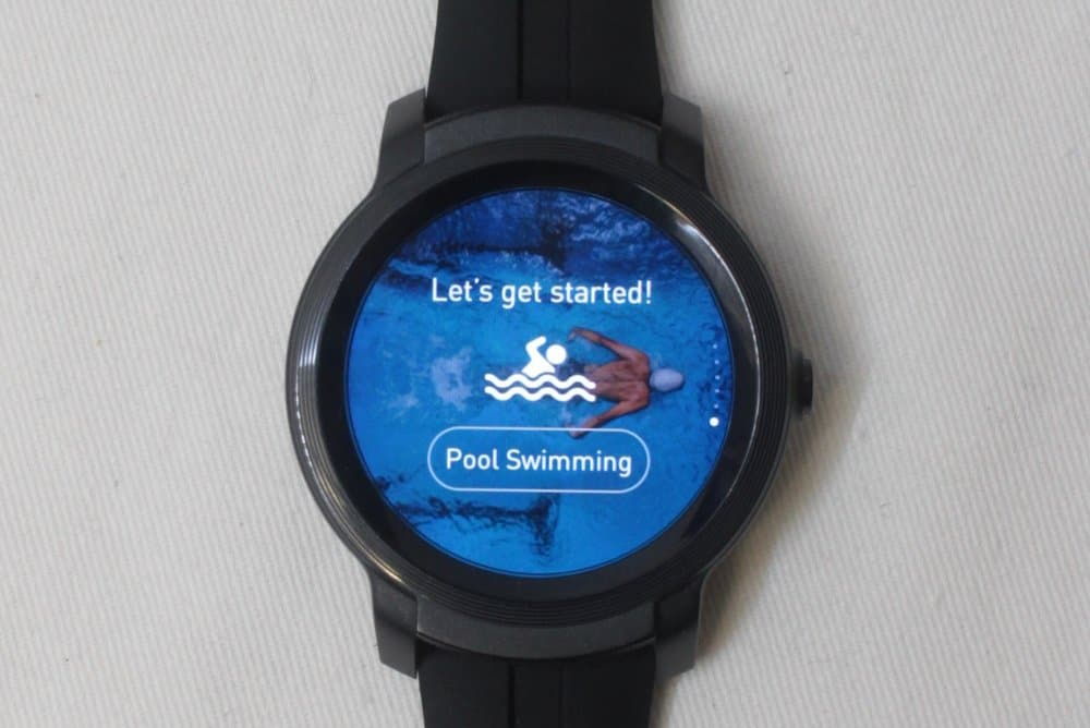 ticwatch e2 swimming