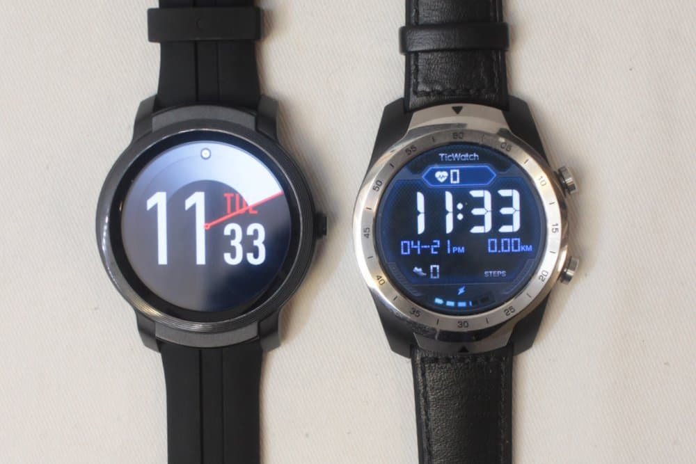 ticwatch e2 vs ticwatch pro main screen