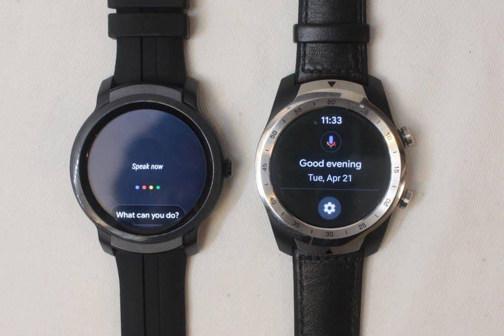 ticwatch e2 vs ticwatch pro google assistant