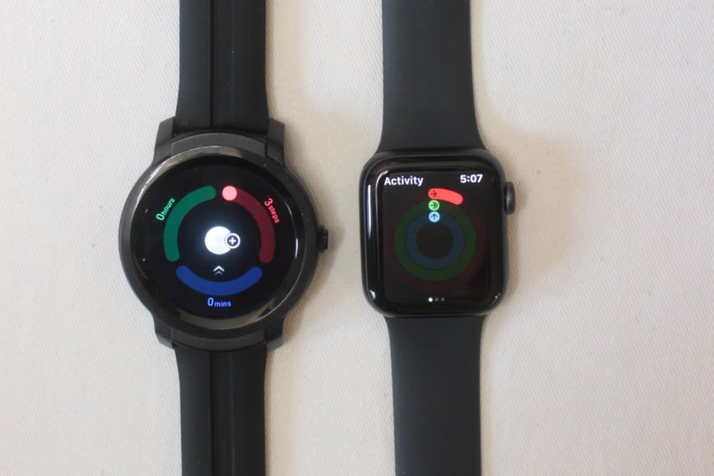 ticwatch e2 apple watch series 5 tichealth and activity app watch os