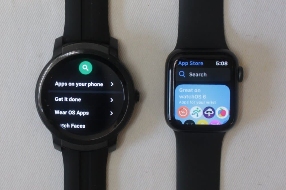 ticwatch e2 apple watch series 5 app store