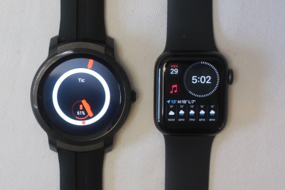 ticwatch e2 apple watch series 5 default watch face
