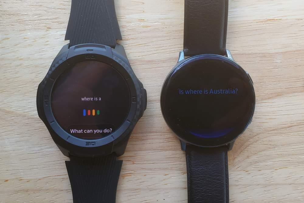 Ticwatch S2 vs Samsung Galaxy Watch Active 2 google assistant vs bixby