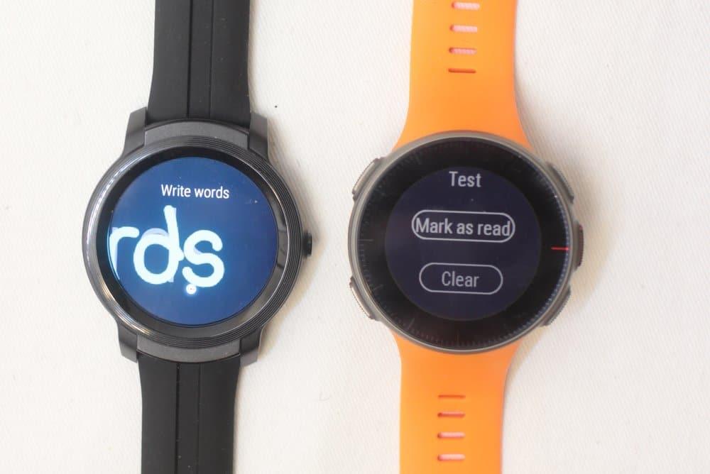 ticwatch e2 vs polar vantage v reply to text