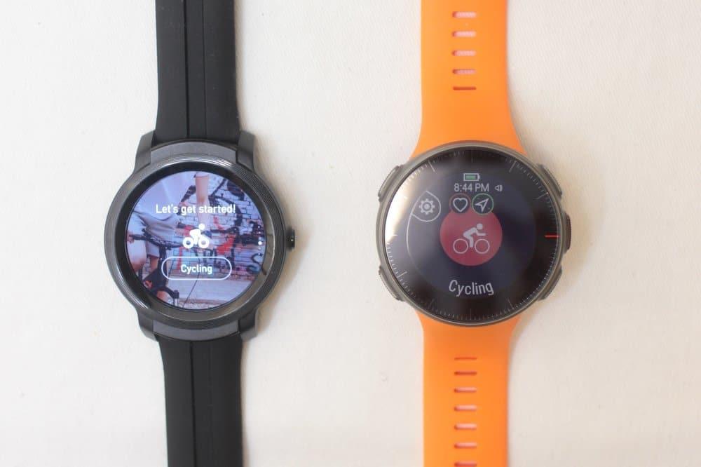 ticwatch e2 vs polar vantage v sports
