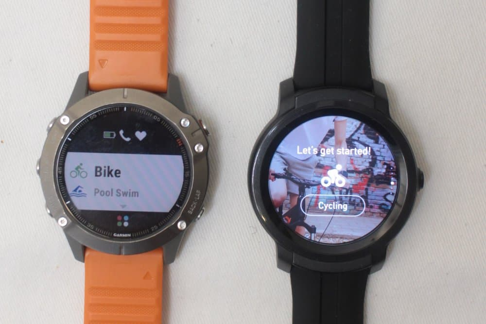 ticwatch e2 vs garmin fenix 6 sports