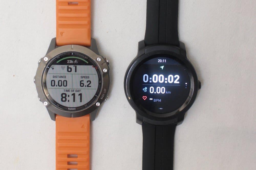 ticwatch e2 vs garmin fenix 6 exercise tracking