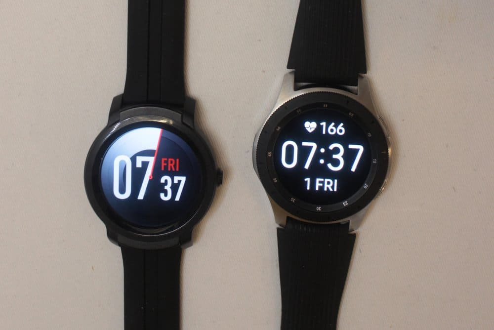 ticwatch e2 vs samsung galaxy watch/active 2 watch faces