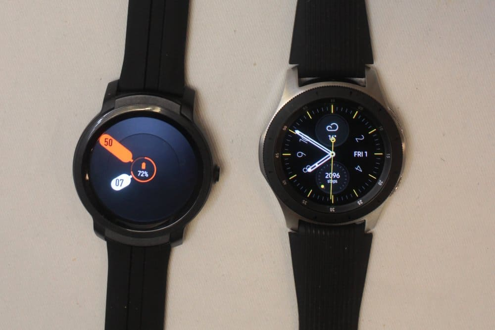 ticwatch e2 vs samsung galaxy watch/active 2