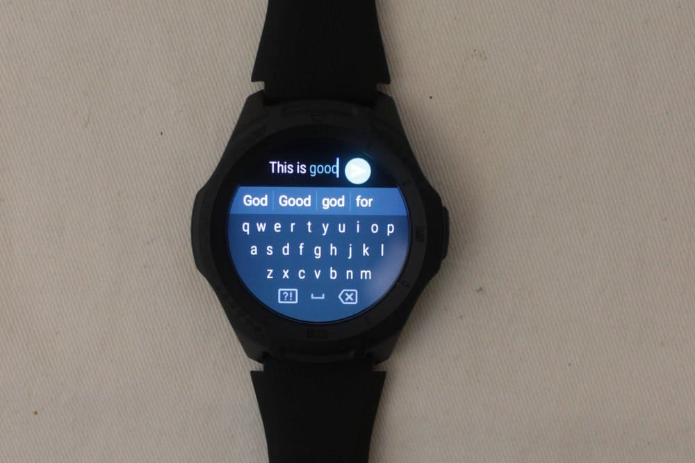 ticwatch e2 keyboard