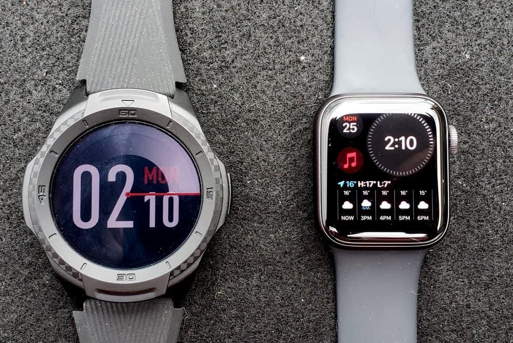 ticwatch s2 vs apple watch series 5 watch face