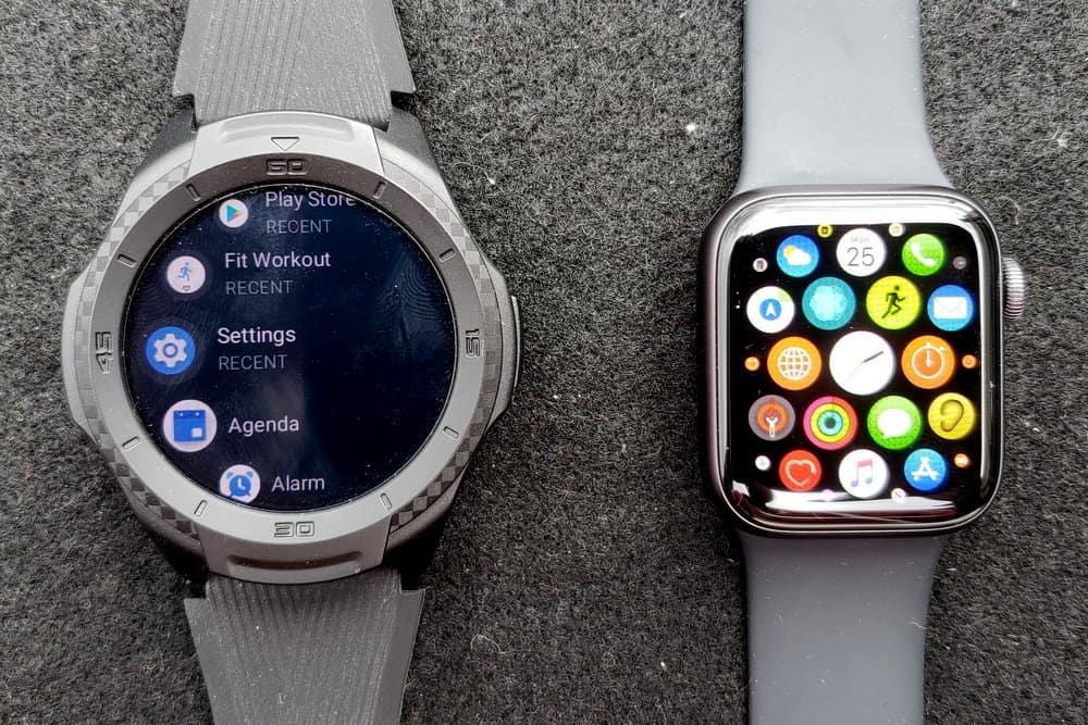 ticwatch s2 vs apple watch series 5 apps