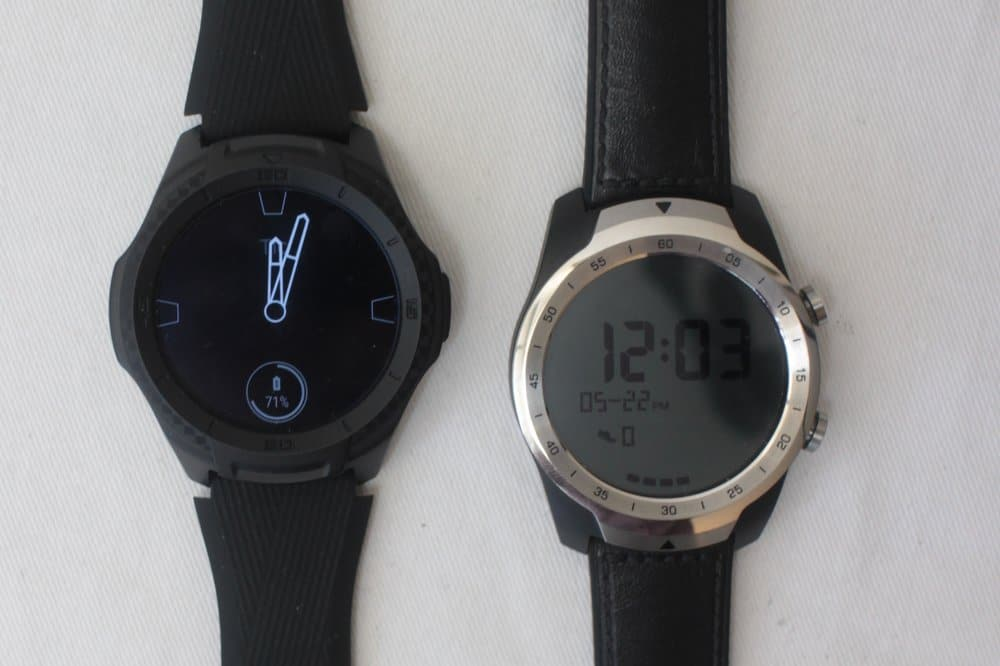 Ticwatch S2 vs Ticwatch Pro always on screen