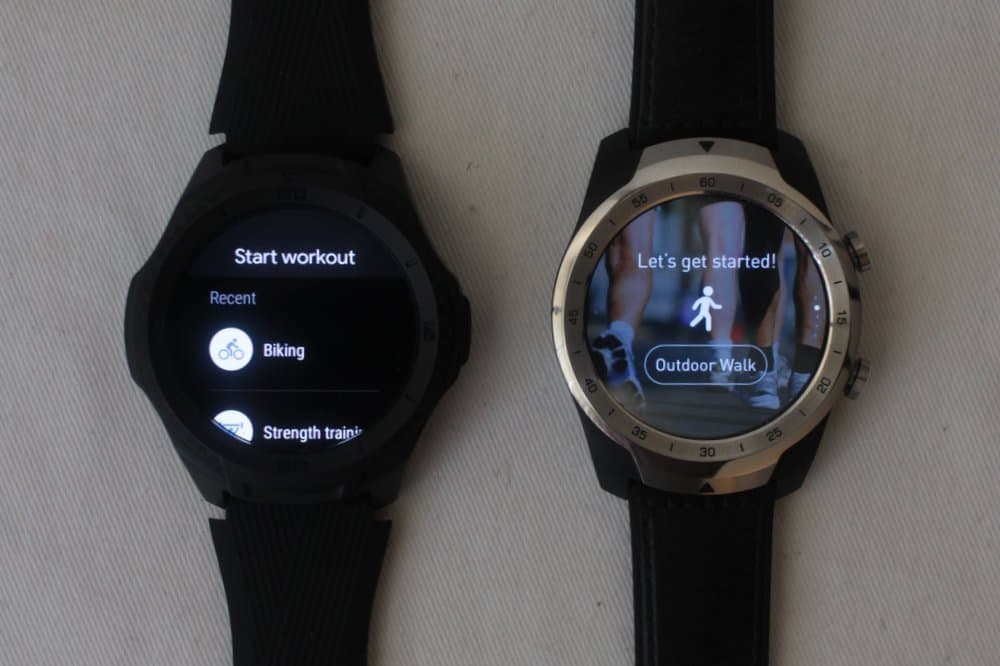 ticwatch s2 vs ticwatch pro exercise ticExercise google fit