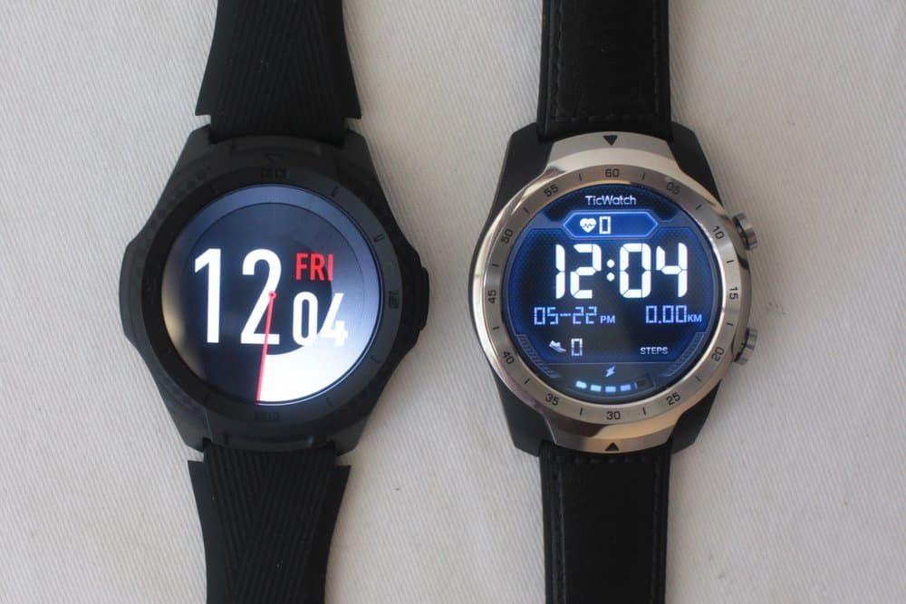 ticwatch s2 vs ticwatch pro watch faces