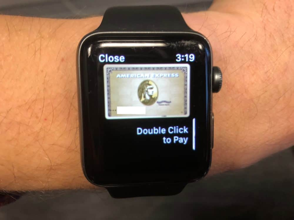 Pay with Apple Pay on Apple Watch.