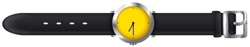 A vector illustration of a watch with Tropic watch straps.