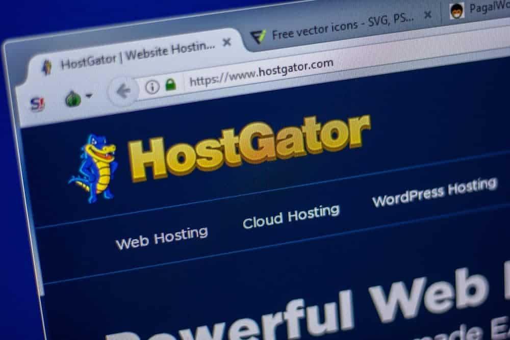 HostGator site homepage