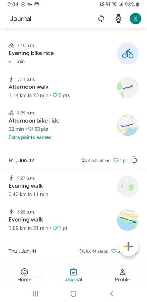 ticwatch c2 google fit smartphone app