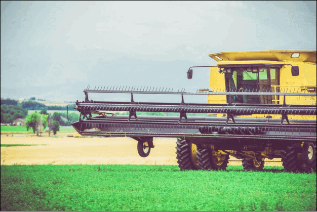 Harvester Machine Working in a Farm