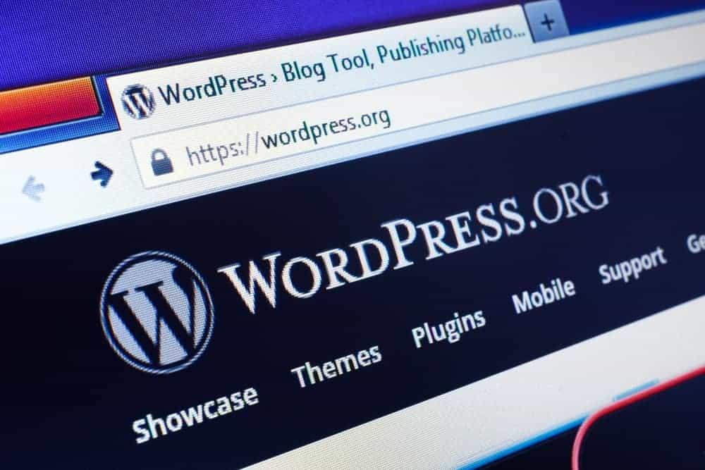 WordPress site homepage