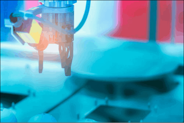 Robotic Hand Gripper Machine Being Used in Manufacturing Company