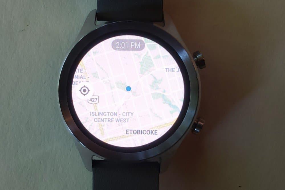 ticwatch c2 google maps