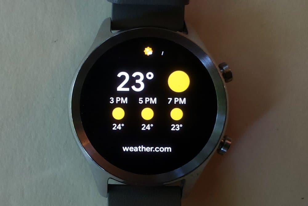 ticwatch c2 weather