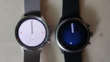 ticwatch c2 vs fossil sport smartwatch main screen