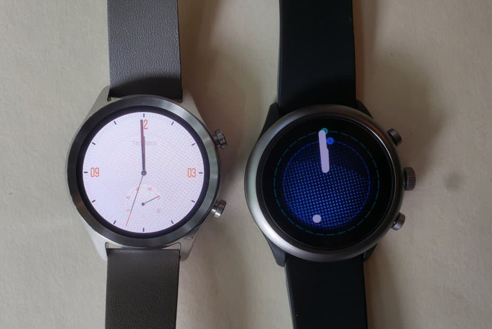 ticwatch c2 vs fossil sport smartwatch main screen