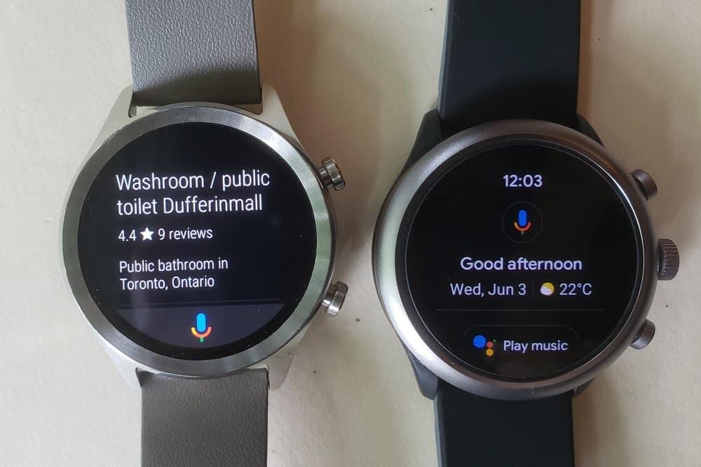 ticwatch c2 vs fossil sport smartwatch google assistant