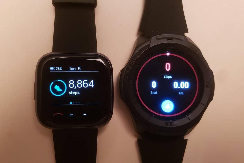 Ticwatch S2 vs Fitbit Versa 2 step counter