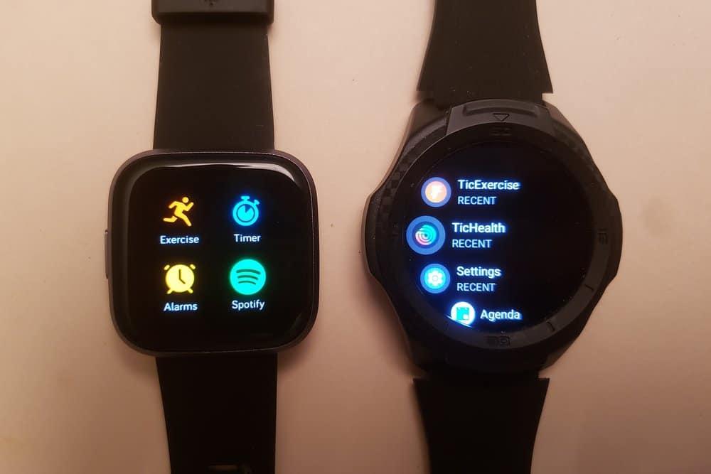 Ticwatch S2 vs Fitbit Versa 2 apps