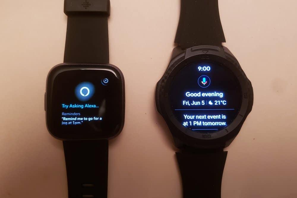 Ticwatch S2 vs Fitbit Versa 2 google assistant amazon alexa