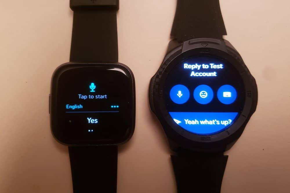 Ticwatch S2 vs Fitbit Versa 2 reply to text
