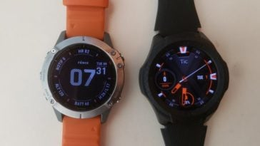 ticwatch s2 vs garmin fenix 6 main screen