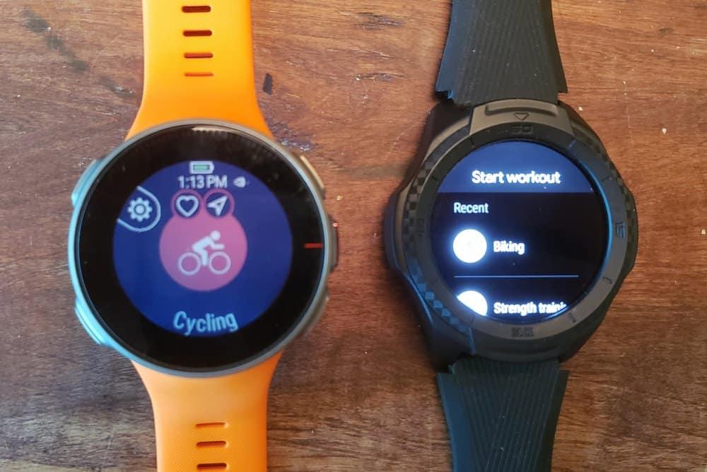 ticwatch s2 vs polar vantage v sports and workout