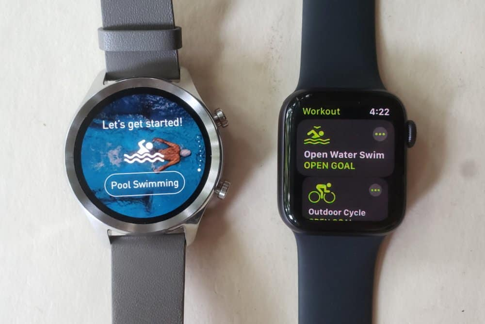 Winner: Apple Watch Series 5 swimming