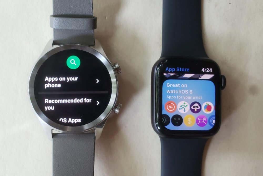 ticwatch c2 vs apple watch series 5 app store