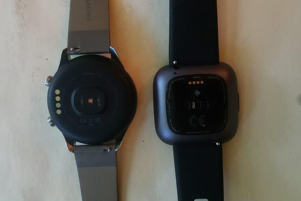 Ticwatch C2 vs Fitbit Versa 2 heart rate sensor