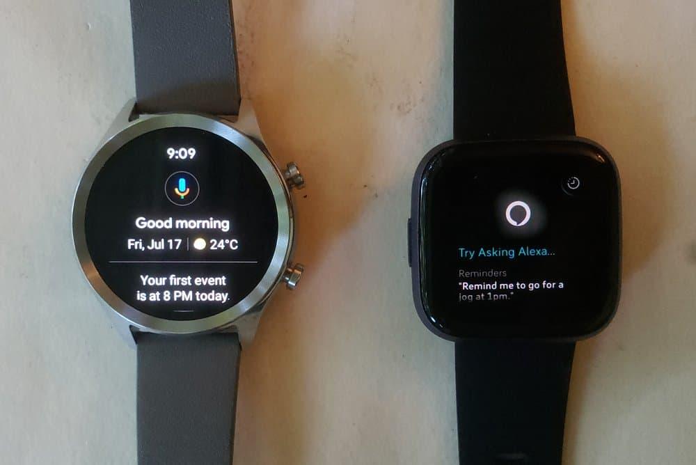 Ticwatch C2 vs Fitbit Versa 2 google assistant alexa
