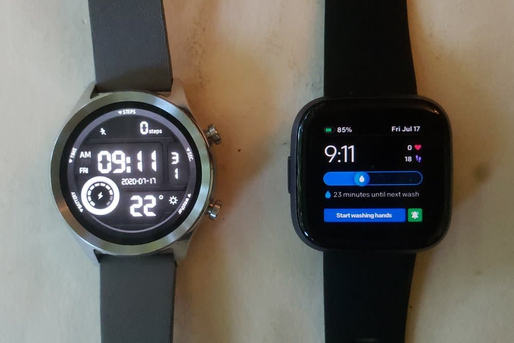 Ticwatch C2 vs Fitbit Versa 2 watch faces