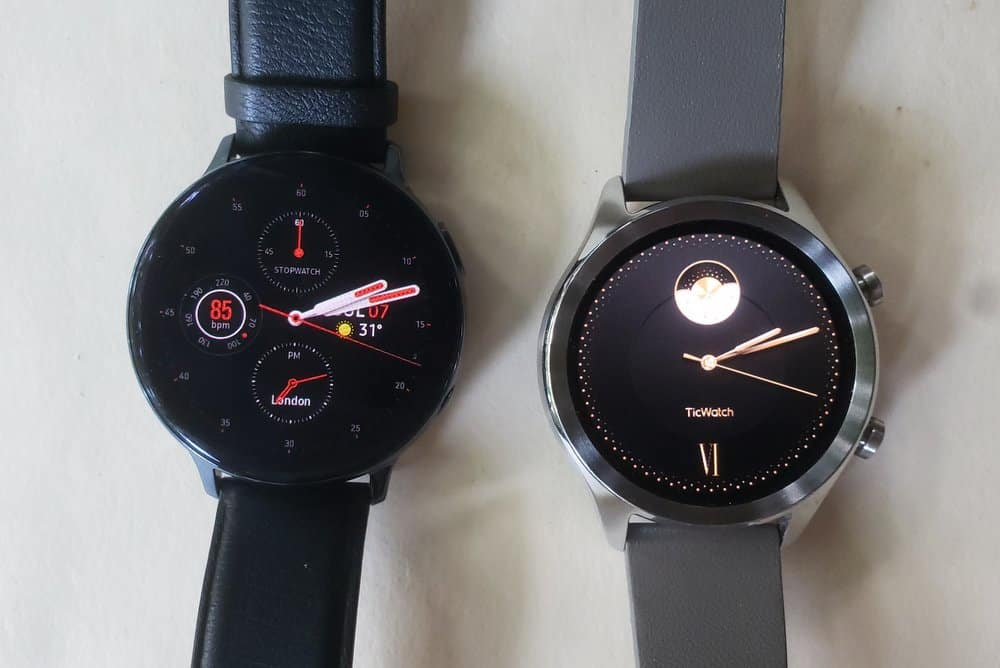 ticwatch c2 vs samsung galaxy watch active 2 watch faces