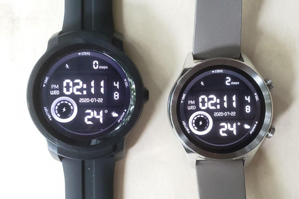 Ticwatch C2 vs Ticwatch E2 main screen