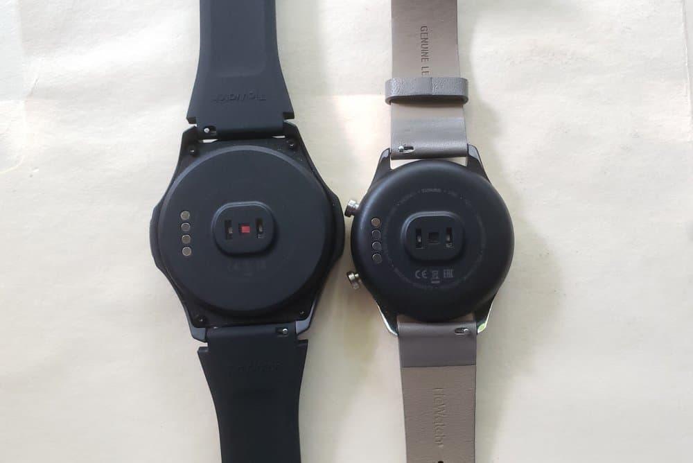 Ticwatch C2 vs Ticwatch S2 rear
