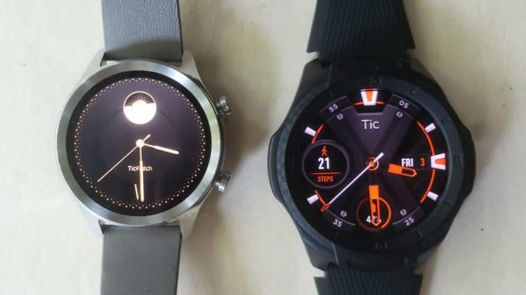 Ticwatch C2 vs Ticwatch S2 main screen